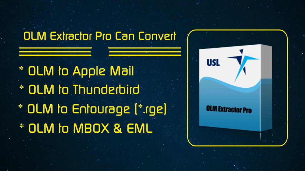 "Move from Outlook 2011 to Apple Mail using ""OLM Extractor Pro"""